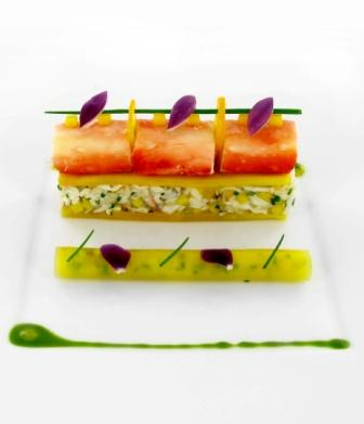 Alaskan Red King Crab, riviera of mango and red Onion