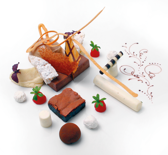 Dessert au chocolat Valrhona