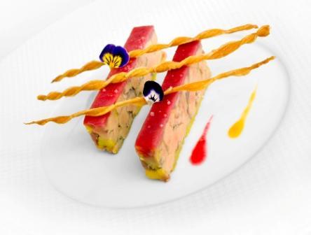Foie gras de canard Rougié, fondant à la pêche de vigne