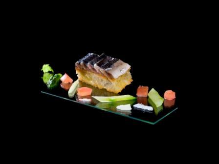 Sardines fraîches sur focaccia